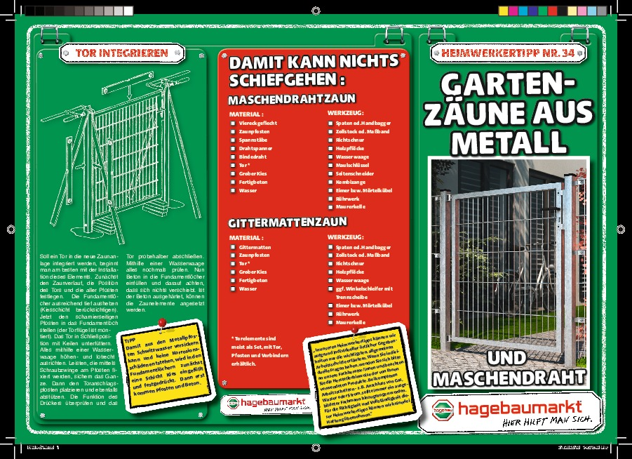 ht34 gartenzaeune aus metall s1 20130821 d hagebaumarkt langen. Black Bedroom Furniture Sets. Home Design Ideas